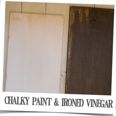 Chalky paint ironed vinegar aging technique is tested together on scrap pieces of wood. Check out the results.