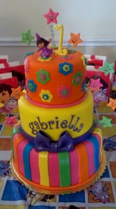 Bright Dora Cake