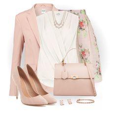 Floral Check Print Skirt