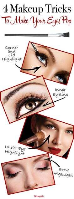 4 Makeup Tricks to Make Your Eyes Pop - try something new for a night out!