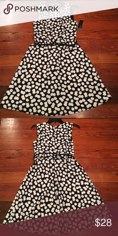 NWT AB Studio dress size 4 Fit and flare dress. Belt included. 97% polyester 3% spandex. AB Studio Dresses Mini
