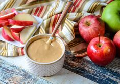 Caramel Ganache in a bowl with apples around it Apple Dip, Apple Slices, Caramel Ganache, How To Melt Caramel, Caramel Candy, Heavy Whipping Cream, Apple Recipes, Whipped Cream, Just Desserts