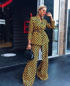 Ankara Blazers and Pants Set, African Pants set - African fashion African Print Fashion, African Fashion Dresses, Fashion Outfits, Africa Fashion, Ankara Fashion, Tribal Fashion, African Prints, Bold Fashion, Dashiki Shirt