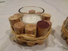Rustic décor candles with recycled wine corks. Unscented candles 1.4oz. SHIPPING INCLUDES SHIPPING AND HANDLING.