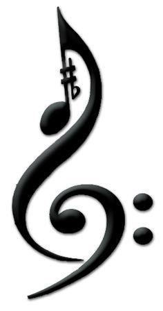 Music Tattoo:  Treble Clef, Bass Clef, Sharp, Flat, Eighth Note