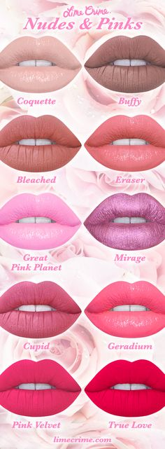 Nudes & Pinks  Shop now! limecrime.com