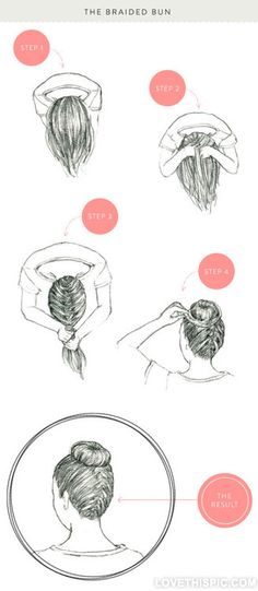 The Braided Bun DIY diy diy crafts do it yourself diy art diy tips dit ideas the braided bun  easy diy
