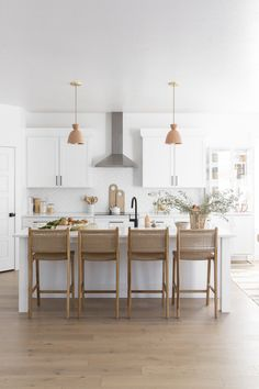 """Get the look"" and shop the products that bring Aspyn Ovard's modern boho home to life! minimalist decorwhite home decordyi decor homedi Home Decor Kitchen, Kitchen Interior, Home Kitchens, Kitchen Design, Big Kitchen, Kitchen Island, Kitchen Decorations, Decorating Kitchen, Kitchen Ideas"