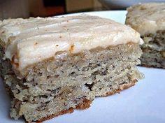 Banana Bread Bars: 1-1/2 c. sugar 1 c. sour cream 1/2 c. butter, softened 2 eggs 1-3/4 c. (3 or 4) ripe bananas, mashed 2 tsp. vanill...