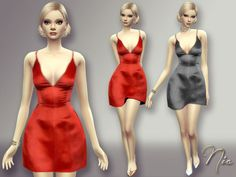 Sims 4 CC's - The Best: Dress by Nia