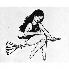 Resultado de imagen para witch classic tattoo