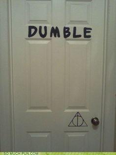 dumble door humor   tags door double meaning dumble dumbledore hall of fame harry potter ...