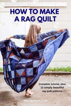 A Beginner's Guide to Rag Quilting book Quilting For Beginners, Quilting Tips, Rag Quilt Patterns, Pillow Patterns, Quilt Labels, Custom Quilts, Book Quilt, Easy Quilts, Love Sewing