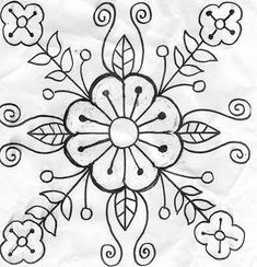 Mexican Flowers Drawings Design Drawings And Templates To Print Drawings Of . Embroidery Designs, Hand Embroidery Patterns, Diy Embroidery, Beading Patterns, Cross Stitch Embroidery, Machine Embroidery, Jacobean Embroidery, Mundo Hippie, Mexican Flowers