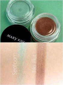 Seafoam y Tiki Hut, Mary Kay colección Paradise Calling primavera 2015. Sombras de ojos en crema en tonos agua y marrón cobrizo. Light teal and copper Brown Cream eye shadows.