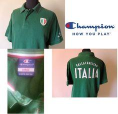 Polo Basket Jersey Champion Italia Shirt Basketball Tg. L (C27)