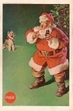 Who remembers this ad? Coke Santa and Terrier (1961).