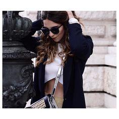 Les Factory Femmes wearing SAGAN Vienna, nano crossbody. Vienna, Collaboration, How To Wear