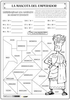 Multiplicaciones con resultados ROMANOS