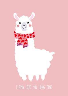Illustrator Studio Inktvis seen on HappyMakersBlog.com   #illustration #illustrator #valentinesday #love #postcard #valentijnskaart #dutchillustrator #dutchilllustratornl #valentine #loveletter Alpacas, Llama Drawing, Llama Face, Llama Llama, Llama Arts, Christmas Phone Wallpaper, Cute Llama, Funny Llama, Baby Posters