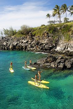 Stand Up Paddle Boarding on Maui Hawaii Hawaii Vacation, Maui Hawaii, Hawaii Travel, Hawaii Honeymoon, Sup Boards, Paddle Boarding, Sup Stand Up Paddle, Sup Yoga, Sup Surf