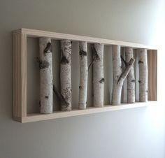 white birch forest - natural white birch woods wall art - 36 x 12. $140.00, via Etsy.