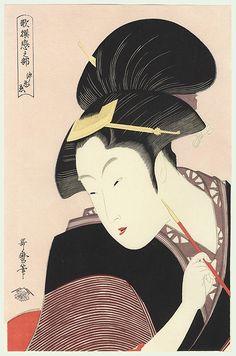 Japan, deeply hidden love / utamaro / 1750 - 1806