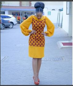 African print Midi dress with balloon sleeves/Ankara/African Clothing/African Fashion/Ankara Clothing/Kente African Fashion Ankara, Ghanaian Fashion, African Inspired Fashion, Latest African Fashion Dresses, African Print Dresses, African Dresses For Women, African Print Fashion, African Attire, African Wear