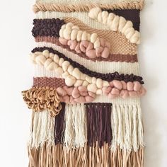 Large wall hanging - OFF Woven wall weaving Woven tapestry Weaving… Weaving Textiles, Weaving Art, Tapestry Weaving, Loom Weaving, Hand Weaving, Weaving Wall Hanging, Tapestry Wall Hanging, Wall Hangings, Hanging Fabric