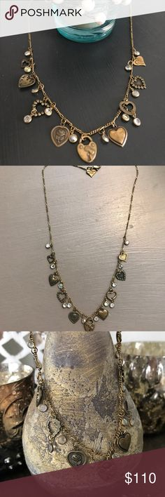 "Heart Necklace Vintage estate jewelry. Sweetheart charm necklace. 16"" chain. Lobster clasp. Perfect condition. Sits at neckline. Glass Works Studio Jewelry Necklaces"