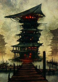 China Tower by *torvenius  Digital Art / Paintings & Airbrushing / Sci-Fi©2008-2012 *torvenius
