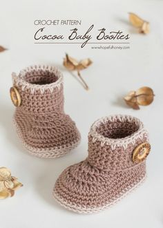 Cocoa Baby Ankle Booties - Free Crochet Pattern