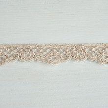 #Organic #lace #trim 25 mm wide natural ecru #cotton colour undyed, flower undulating www.lancasterandcornish.co.uk #wedding #bridal #millinery #trim #upcycle #ethicalfashion