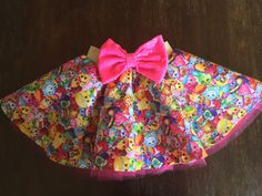 Our SHOPKINS character skirts are perfect for your fabulous babies birthday. Complete the outfit with our SHOPKINS tank top. You can always add a bow headpiece and necklace for the perfect outfit. The