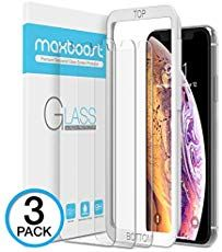 Maxboost Screen Protector for Apple iPhone XS Max inch) (Clear, 3 Packs) iPhone XS Max Tempered Glass Screen Protector w/Advanced Clarity Touch] Work with Most Case Touch Accurate: Cell Phones Accessories: New Releases - Early Bird Spe Best Screen Protector, Glass Protector, Tempered Glass Screen Protector, Best Iphone, Apple Iphone, Iphone 11, Iphone Online, Niklas, Edge Design