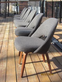 Knoll Executive Side Chairs   Set Of 6   Mid Century Modern   Saarinen  Eames DWR