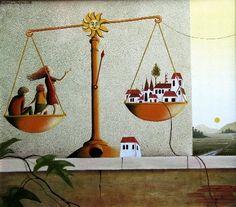 Rozhodnutí - Oil Painting by Barbara Issa Wagnerova
