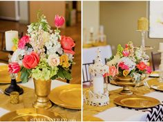 Style Unveiled | A Wedding Blog - Pink & Gold Wedding Tablescape Inspiration