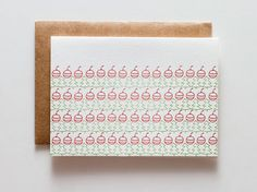 Ornament / Tree  letterpressed holiday card by ironcurtainpress