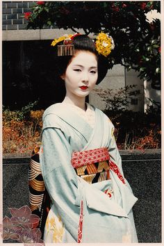 The great Geisha Tsuneyuu as a Maiko in the By Kofuji Japanese Geisha, Japanese Beauty, Japanese Kimono, Samurai, Traditional Fashion, Traditional Clothes, Memoirs Of A Geisha, Turning Japanese, Paisajes