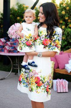 30 Outfits en conjunto super chic para mamá e hija