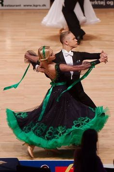 Beautiful green and black standard dress!