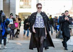 NYFW Fall 2014 Street Style :: Coco Rocha