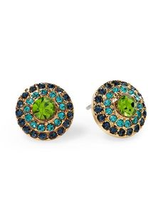 Tinley Road Pave Circle Stud Earring