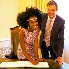 ·  @igobyfrankie looked resplendent on her wedding day #interracialweddings #interracialcouple #afrobride