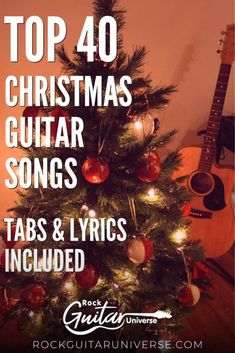 The holidays are almost upon us. We are getting closer to that time where Christmas songs and carols will be heard everywhere. There is no better way to share the joy than learning to play some Christmas songs on the guitar. check these amazing 40 Christmas guitar songs, tabs & lyrics included #christmas #guitar #songs