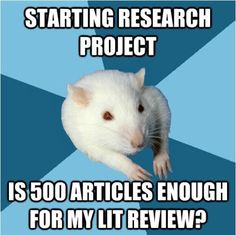 The stress of every research paper...