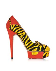 Charlotte Olympia Ninivah Chinese Red Platform Pumps   Shoes and Footwear