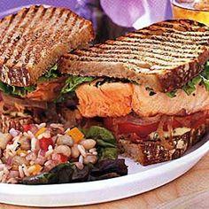 Salmon Club Sandwich Recipe - Epicurious & ZipList