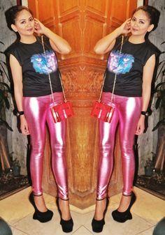 Pink disco pants